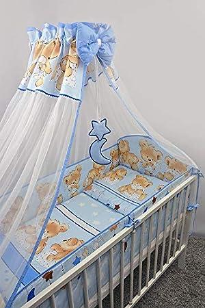 Juego de cama de 10 piezas para cuna de bebé con parachoques ...
