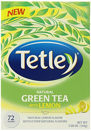 Tetley Steamed Green Tea with Lemon, 72 Count (Pack of (Tetley Lemon Tea)