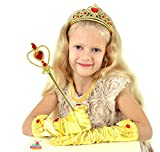 Princess Belle Gift Set 8Pieces Yellow Dress Up Christmas Party for Girls