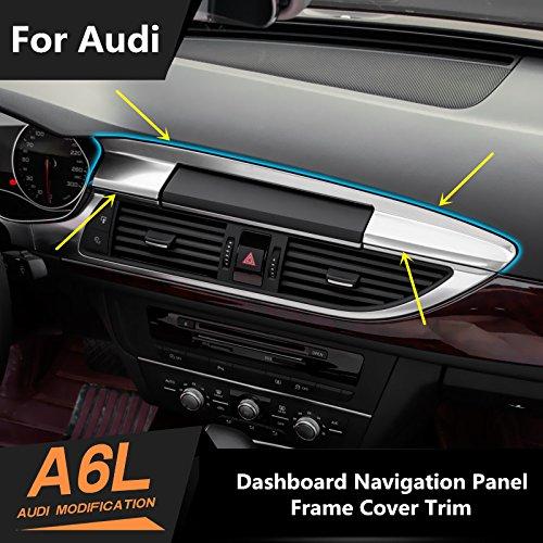 Interior Dashboard GPS Navigation Frame Cover Trim for Audi A6 C7 2012-2015