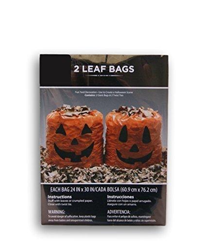 Cute Pumpkin Face Leaf Bags - 2 Bags