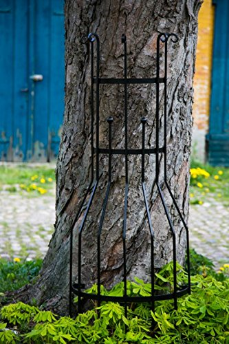 Wandrankgitter Schwarz H: 150cm Rankgitter aus Metall Rankhilfe Blumenwand