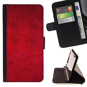 Momo Phone Case / Flip Funda de Cuero Case Cover - Rojo del papel pintado Dise?o Textura Arte Textil - Samsung Galaxy S6 EDGE