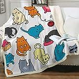 Sleepwish Cat Fleece Throw Blanket Girls Kids