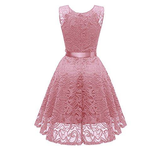 Princesa Pink Floral Sonnena Vestido Cuello V Fiesta Dress Swing La De Vintage Vestidos En Cóctel Ladies Despeje Sólido Mujer Noche Encaje Elegante fqwn1EqtA