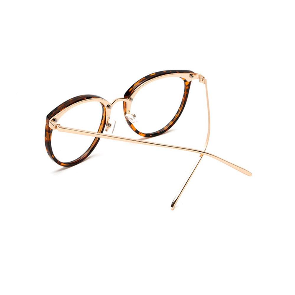 45ae44fc8ba69 Pingenaneer Montures de lunettes Rétro Rondes Lunettes de Vue Lentille  Claire pour Homme et Femme Lunettes Cadre Transparent