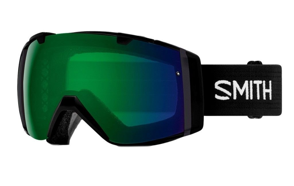 Smith Optics Adult I/O Snowmobile Goggles Black / ChromaPop Everyday Green Mirror by Smith Optics