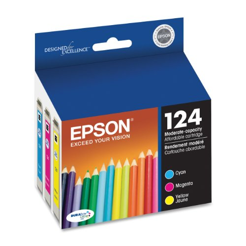 Epson T124520 DURABrite Ultra Color Combo Pack Moderate Capacity Cartridge Ink