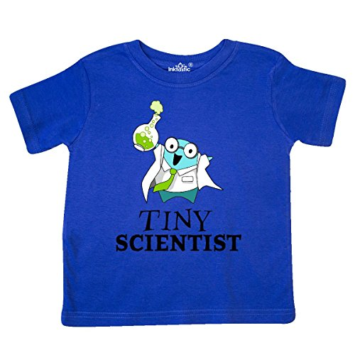 (inktastic - Tiny Scientist Cute Chemist Toddler T-Shirt 5/6 Royal Blue 29a54)