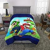 Franco Kids Bedding Super Soft Comforter, Twin Size 64' x 86', Mario