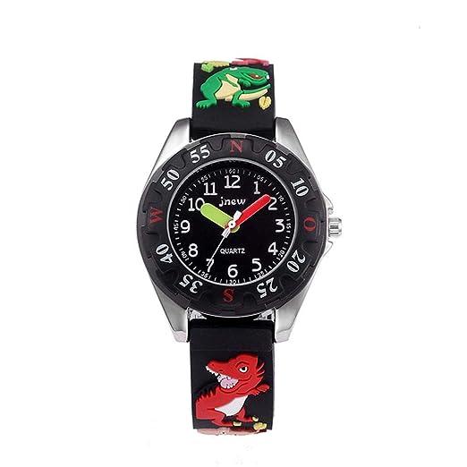 Reloj para niños Reloj analógico de Cuarzo Resistente al Agua, Reloj para Aprender a Leer la ...