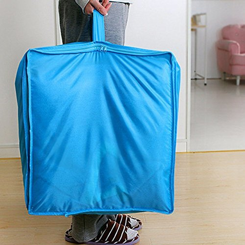 Clothes Quilt Bedding Duvet Zipped Handles Laundry(Blue)(L) - 3