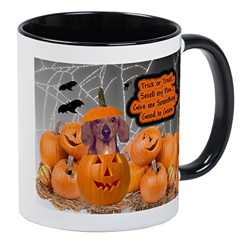 CafePress - Dachshund Halloween (Red) Mug - Unique Coffee Mug, Coffee -