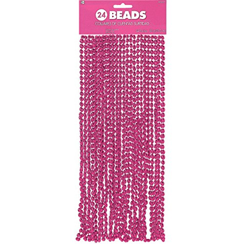 Pink Bead Necklace, Party -