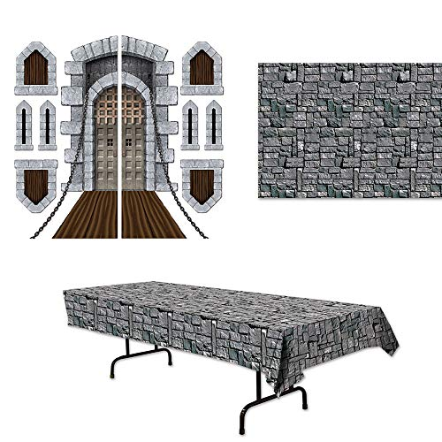 Medieval Theme - Stone Castle Medieval Tablecover Props Backdrop