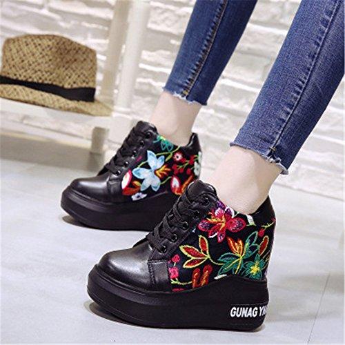 Casual Hidden Women Women Patent High 2018 Leather Wedges frist Black Lace Black Shoes Pumps Platform Shoes Heels Heel Super up vSAz4wqOOn