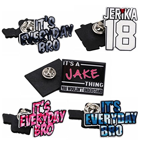 Expression Jewelry Set Of 5 It's Everyday Bro Lapel Pins
