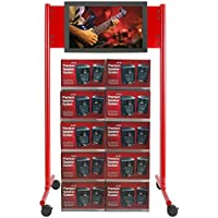 Avteq ShowStation SS-44 Display Stand - 27 to 52 Screen Support - 80 Height x 44 Width x 32.3 Depth - Powder Coated - Steel - SS-44