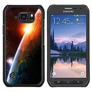 EJOOY---Cubierta de la caja de protección para la piel dura ** Samsung Galaxy S6Active Active G890A ** --Amanecer Planeta Tierra