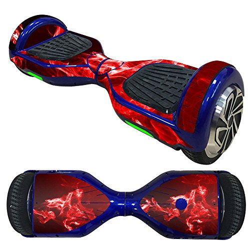 Fewear Protective Skin Decal for 6.5in Self Balancing Scooter Hoverboard 2 Wheels- Sticker for Hover Board - Skin for Self-Balancing Electric Scooter - Decal for Self Balance Mobility Longboard (Q)