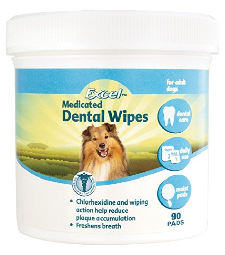 Excel Medicated Dental Wipes 90 Piece Reduce Bad Breath Health Care Groom - Free Sunglasses Sample