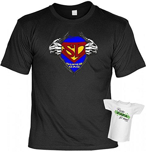 T-Shirt Funshirt - Super Dad - witziges Spruchshirt als Geschenk zum Geburtstag des Papas oder zum Vatertag