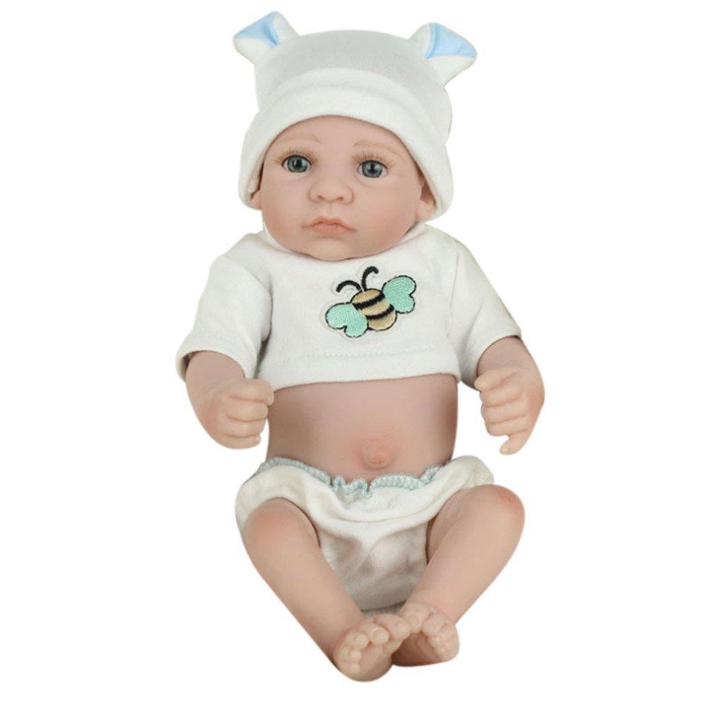 Broadroot Schö ne Silikon Reborn Babypuppen Lebensechte Simulation Puppe Spielzeug Infant Baby Geschenk