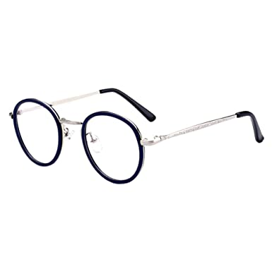 Deylaying Femmes Hommes Unisexe Vendange Rond Cadre Anti-UV Revêtement  Goggles Courte Distance Myope Myopie Des lunettes Force -1.00~-6.00 (Diese  sind nicht ... 9156945f856