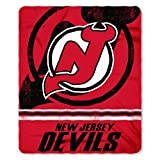 """Officially Licensed NHL New Jersey Devils Fade Away Printed Fleece Throw Blanket, 50"""" x 60"""""""