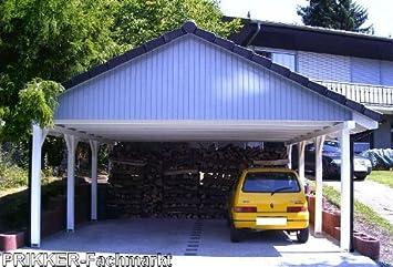 PRIKKER-Carport - Porche de madera para proteger vehículos de la intemperie (6 x 6 m): Amazon.es: Jardín