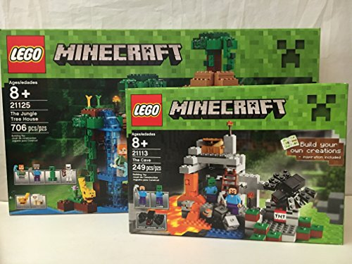 LEGO Minecraft The Jungle Tree House y LEGO Minecraft The Cave