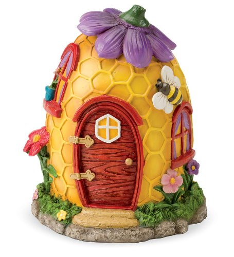 Fairy Village Houses, Resin - Hand-painted - 9''H - Set of 5 by HearthSong® (Image #3)