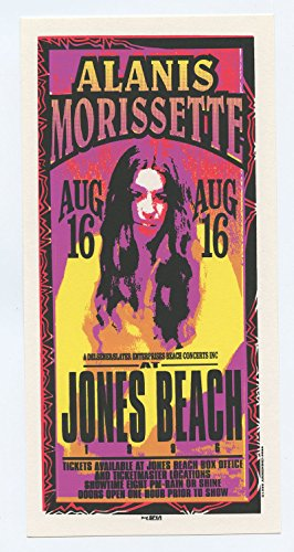 Alanis Morissette at Jones Beach 1996 Aug 6 Handbill Mark Arminski
