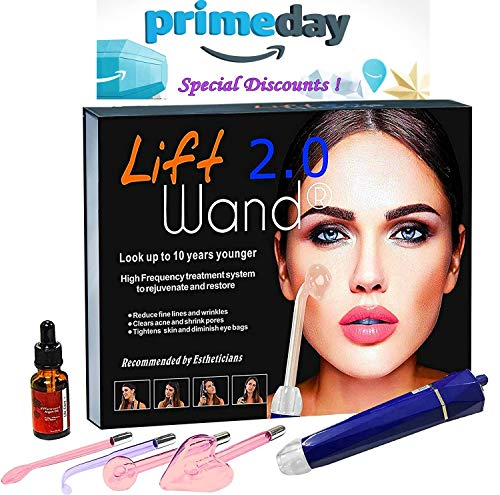 Lift Wand 2.0 High Frequency Machine Anti Aging device, Eliminates Wrinkles and Acne (Lift Wand - Toning System Facial