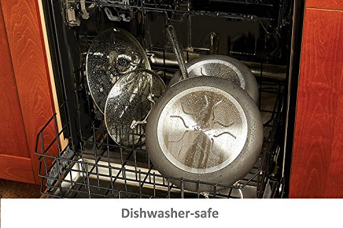 "All-Clad B899S2DC HA1 Dishwasher Safe PFOA Free 2 Pack 10"" & 12"" Glass Lid, Clear"