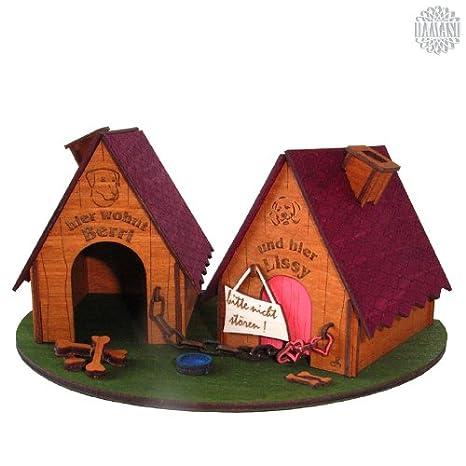 Damasu BS_RH08 - Figura decorativa para montar (madera), diseo de casetas de perro: Amazon.es: Hogar