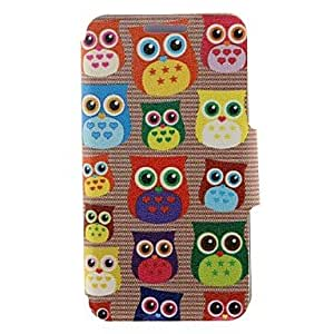 YULIN Kinston Cute Owl Pattern PU Leather Full Body Case with Stand for iPhone 6