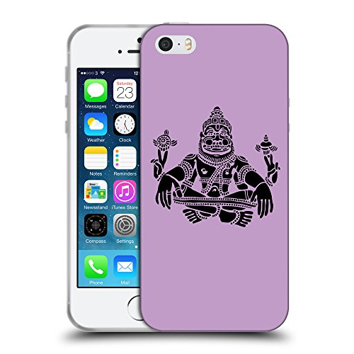 GoGoMobile Coque de Protection TPU Silicone Case pour // Q08120617 Hindou 3 Bright Ube // Apple iPhone 5 5S 5G SE