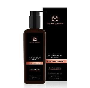 THE MAN COMPANY Apple Cider Vinegar Shampoo for Hair Loss – Natural Shampoo for men, Dandruff Shampoo (6.7 oz) – Itchy, Dry Scalp Shampoo – Hydrating, Soothing - Paraben, Sulfate free Shampoo
