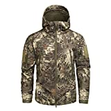 Shark Skin Soft Shell Military Tactical Jacket Men Waterproof Army Fleece Clothing 4XL,MAD,L