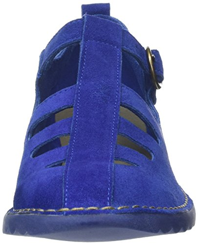 Fly London P801459004, Zapatos T-Bar Mujer Azul (Blue 002)