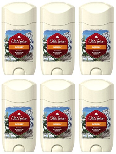 Old Spice Antiperspirant and Deodorant for Men, Fresher Collection, Denali Invisible Solid, Musky Woods & Citrus, 2.6 Oz (Pack of 6)