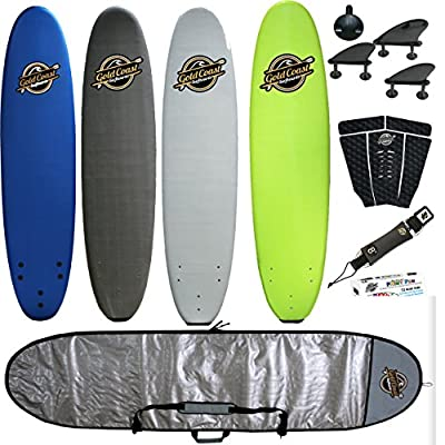 8' Soft-Top Surfboard Package -The Verve- Includes Foam Surfboard, Leash, Fins, Stomp Pad, Paint Pens, and Board Bag - The Best 8' Soft-Top Surfboard for all levels of surfing by Gold Coast Surfboards