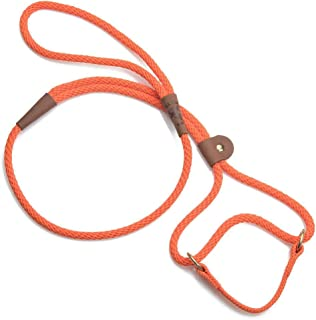 product image for Mendota Pet Dog Walker, Martingale Style Leash - Leash & Collar Combo, Made in The USA - Orange, 3/8 in x 6 ft - for Small/Medium Breeds