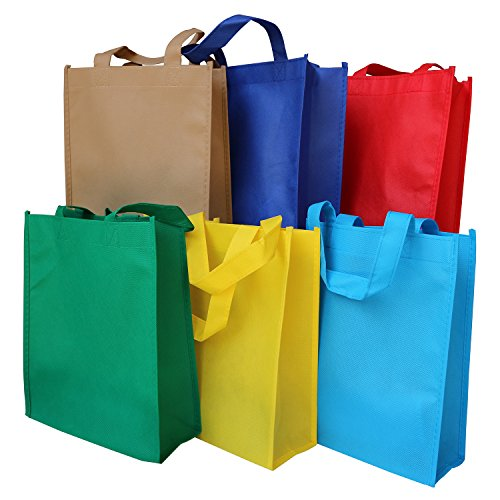 Axe Sickle (12 Color) Non Woven Party Games Gift Tote Bags, Reusable Kids Carrying Shopping Grocery Tote Bag Party Favor in Retail Packaging, Party Favors Decoration, Event Supplies. (10 per Pack)