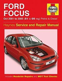 ford focus 1 4 1 6 1 8 2 0 zetec petrol 1 8 td diesel haynes manual rh amazon co uk Ford Focus Repair Manual Online Ford Focus Repair Manual Online