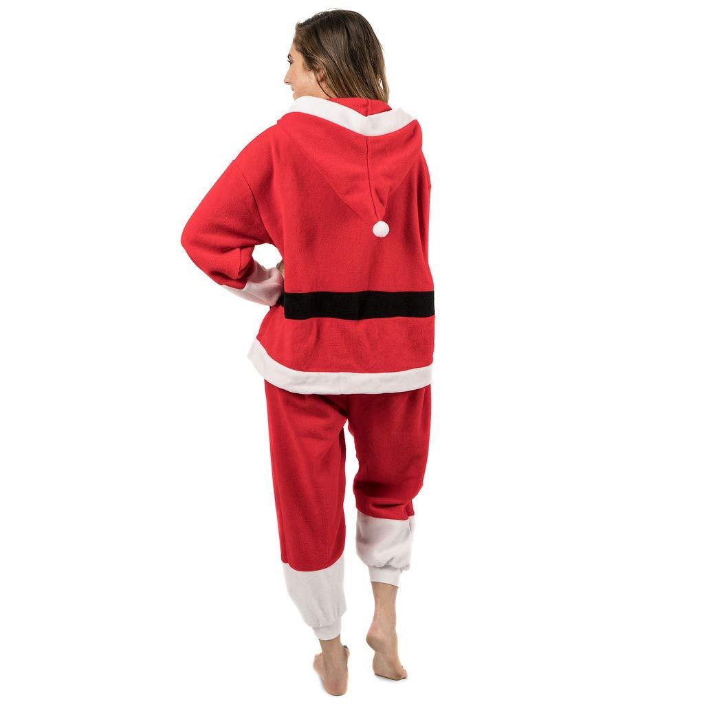 719b23c49c Amazon.com  Emolly Fashion Adult Santa Onesie Costume Pajamas for Adults  and Teens (Small)  Clothing