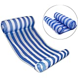 DellyKa Inflatable Water Hammock Pool Lounger Swimming Pool Float Hammock for Adults (Stripe)
