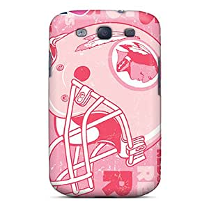 Shock-Absorbing Hard Cell-phone Case For Galaxy S3 (GLK20588RgdM) Provide Private Custom Colorful Washington Redskins Skin