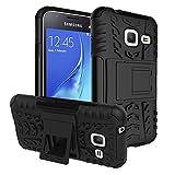 Samsung Galaxy J1 mini Case, IVSO Samsung Galaxy J1 mini Case Hybrid KickStand Case for Samsung Galaxy J1 mini Smartphone (Black)